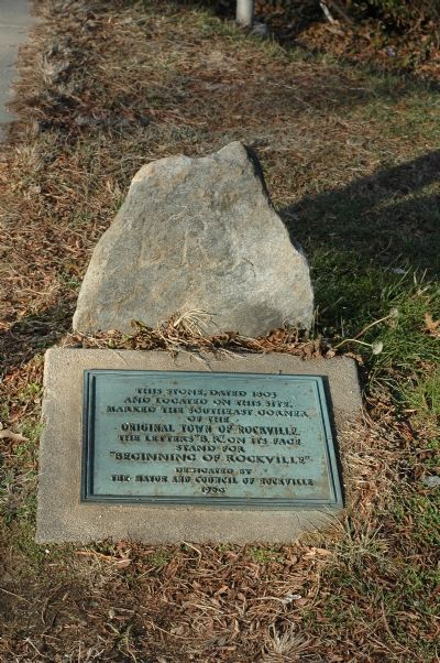 Boundary Stone and Marker Photo, Click for full size