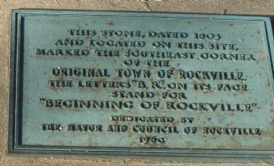 Rockville Boundary Stone Marker Photo, Click for full size