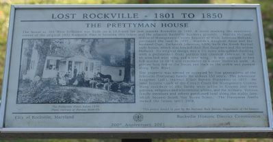 The Prettyman House Marker image. Click for full size.