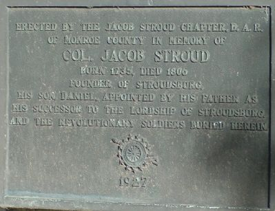 Col. Jacob Stroud Marker image. Click for full size.