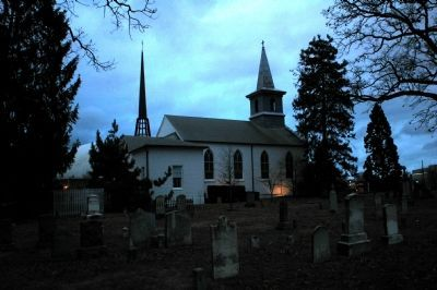 St. Mary's Church at Dusk Photo, Click for full size