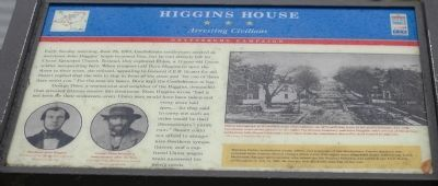 Higgins House - Arresting Civilians Marker Photo, Click for full size