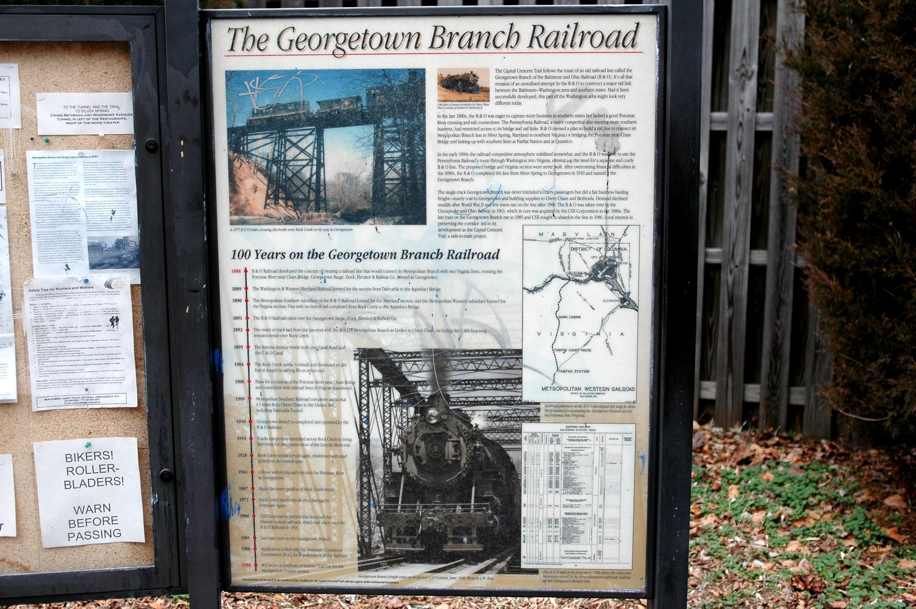 The Georgetown Branch Railroad Marker
