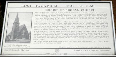 Christ Episcopal Church Marker Photo, Click for full size