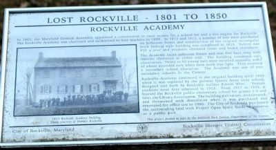Rockville Academy Marker image. Click for full size.