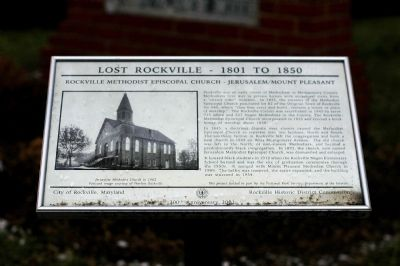 Rockville Methodist Episcopal Church Marker image. Click for full size.