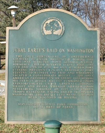 Jubal Early's Raid on Washington Marker image. Click for full size.