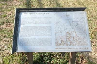 Silver Spring in the Civil War Marker Photo, Click for full size