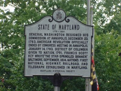 State Of Maryland Marker image. Click for full size.