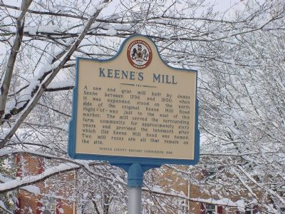 Keene's Mill Marker image. Click for full size.