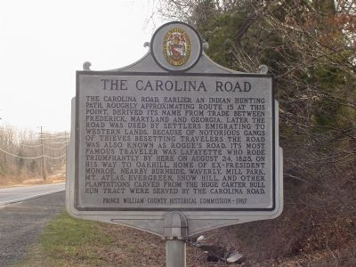 The Carolina Road Marker image. Click for full size.