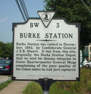 Burke Station Marker Photo