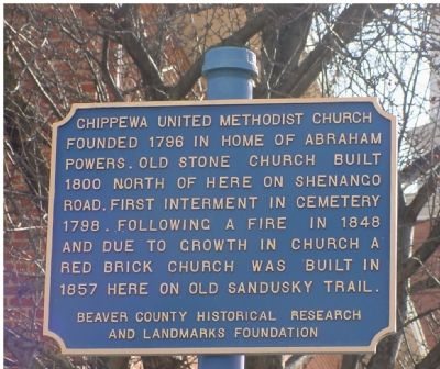 Chippewa United Methodist Church Marker image. Click for full size.