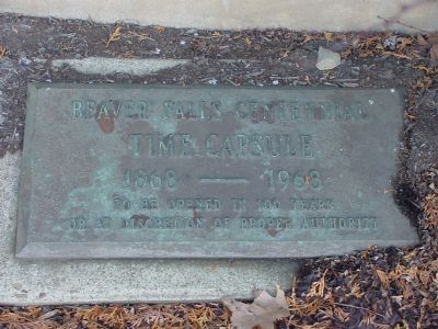Beaver Falls Centennial Time Capsule 1868–1968 Photo, Click for full size