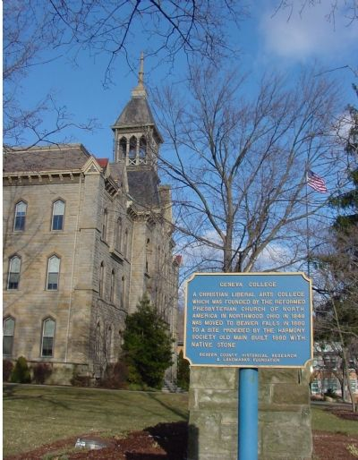 Old Main and the Marker image. Click for full size.