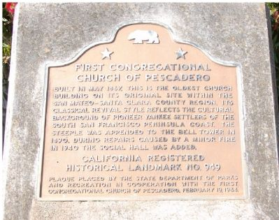 First Congregational Church of Pescadero Marker image. Click for full size.