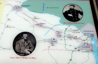 Closeup of Map on Marker Photo, Click for full size