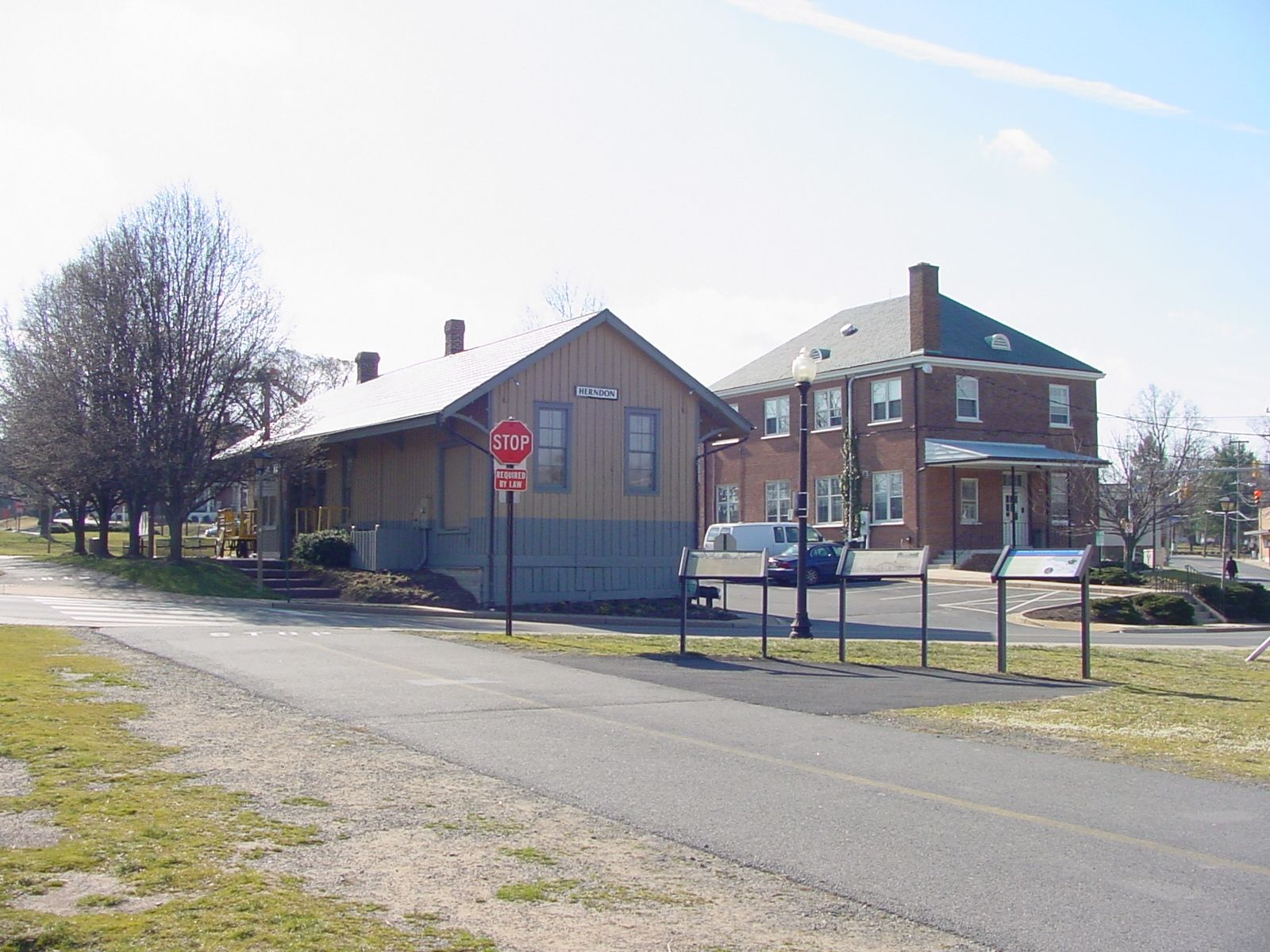 Herndon Station With the Three Markers in the Foreground