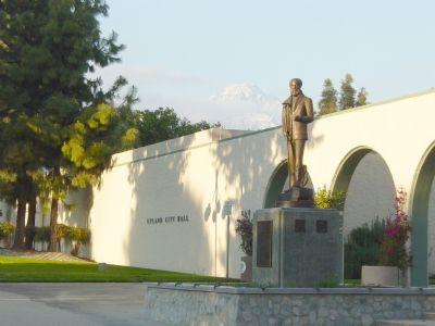 George Chaffey Jr. Statue in Front of City Hall image. Click for full size.