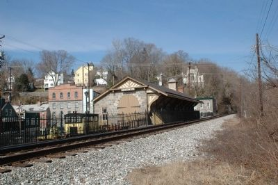 Ellicott Mills B&O Railroad Station Trackside Photo, Click for full size