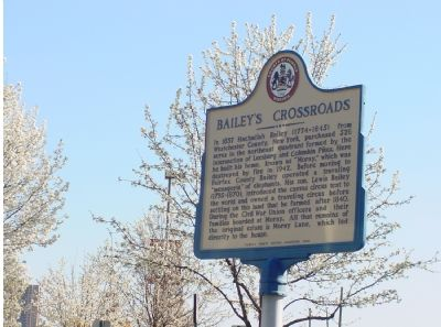 Bailey's Crossroads Marker image. Click for full size.