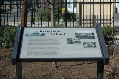Riverdale School Marker image. Click for full size.