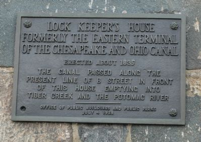 Lock Keeper's House Marker Photo, Click for full size