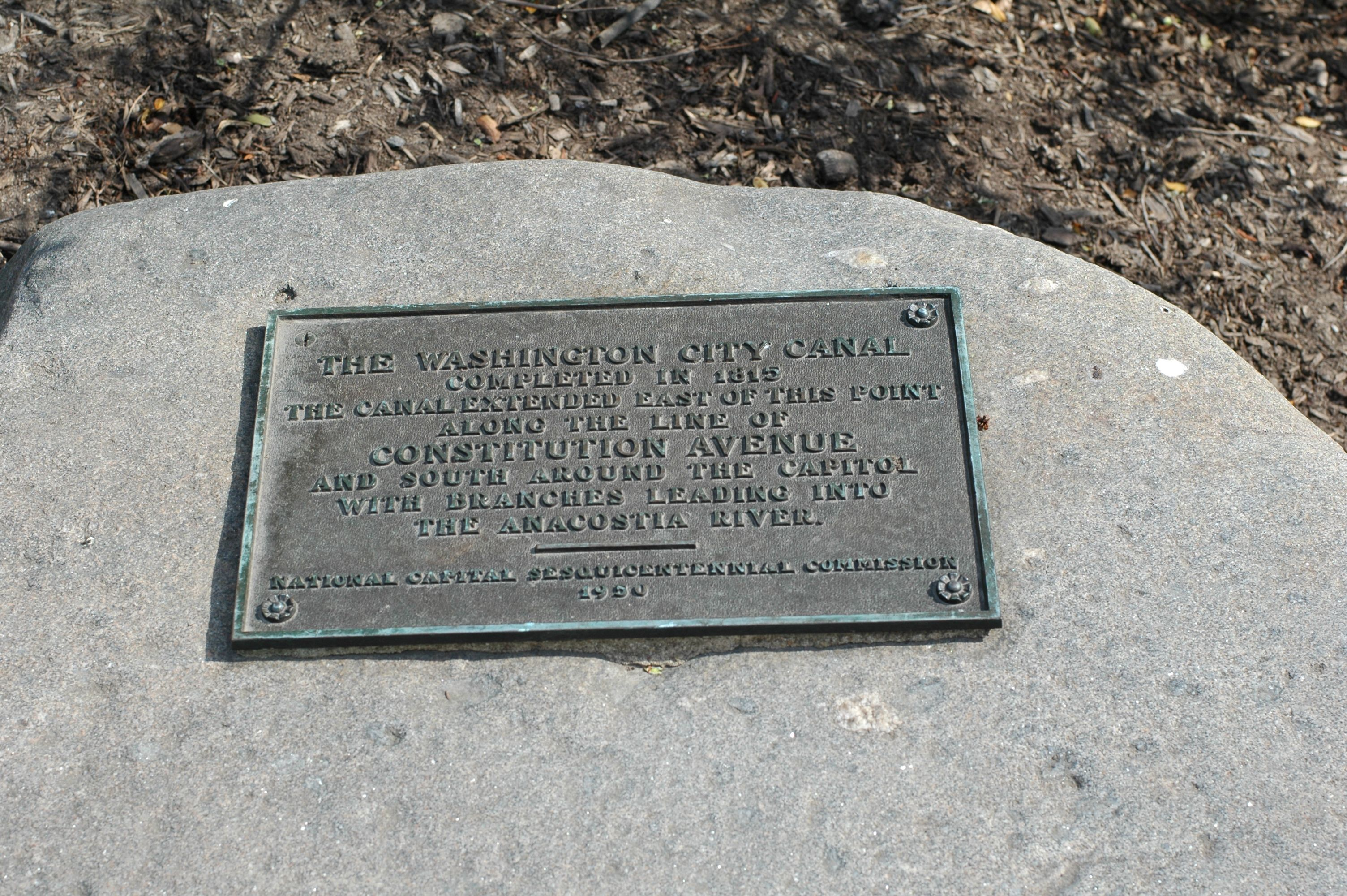 The Washington City Canal Marker
