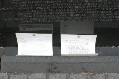 Notes Left At the Wall image. Click for full size.