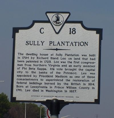 Sully Plantation Marker Photo, Click for full size
