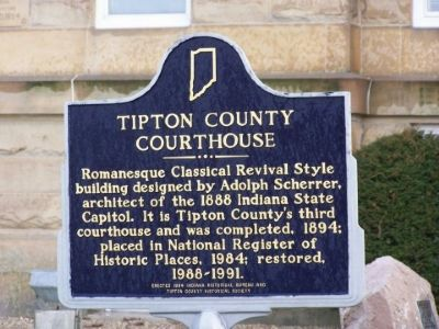 Tipton County Courthouse Marker image. Click for full size.