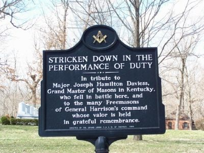 Stricken Down in the Performance of Duty Marker image. Click for full size.