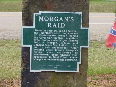 Morgan's Raid Marker Photo, Click for full size