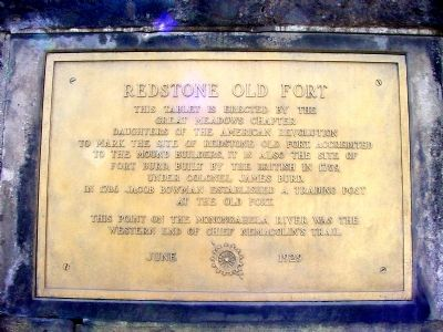 Redstone Old Fort Marker Photo, Click for full size