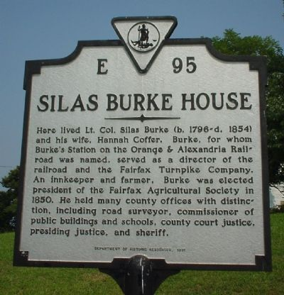 Silas Burke House Marker image. Click for full size.