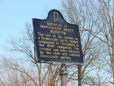 Birthplace of Democratic Party Rooster Marker Photo, Click for full size