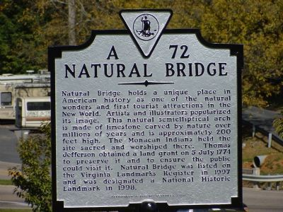 Natural Bridge Marker image. Click for full size.