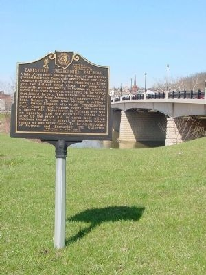 Zanesville Underground Railroad Marker Photo, Click for full size