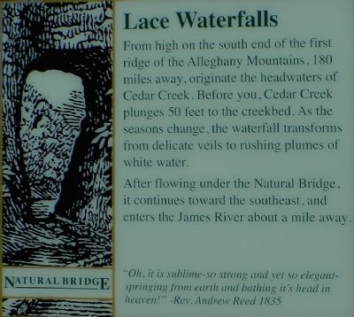About Lace Waterfalls image. Click for full size.