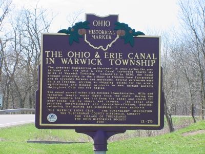 The Ohio & Erie Canal in Warwick Township Marker image. Click for full size.