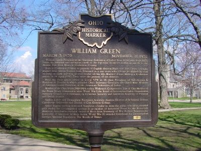William Green Marker image. Click for full size.