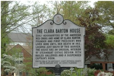 The Clara Barton House Marker image. Click for full size.