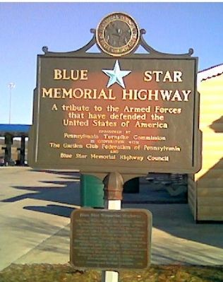 Blue Star Memorial Highway Marker Photo, Click for full size