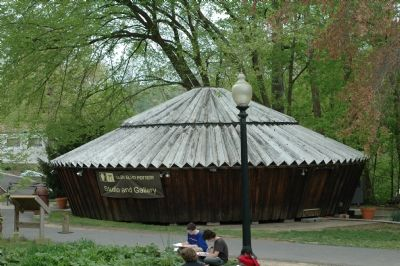 Marker and a Yurt Photo, Click for full size
