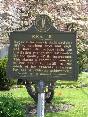 Back of Kavanaugh School Marker Photo, Click for full size