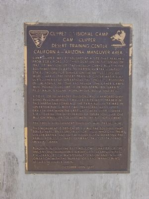 Clipper Divisional Camp Marker image. Click for full size.
