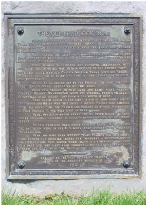 The Old Braddock Road Marker image. Click for full size.