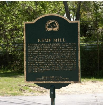 Kemp Mill Marker image. Click for full size.