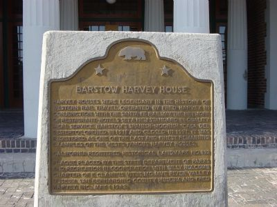 Barstow Harvey House Marker image. Click for full size.