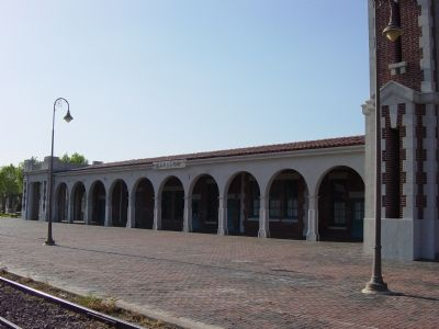 Santa Fe Depot Next to the Harvey House image. Click for full size.